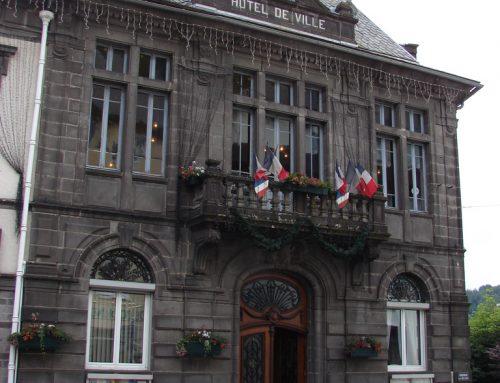 Scan en cours de la mairie du Mont-Dore