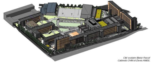 Plan d'architecture avec un amphithéâtre